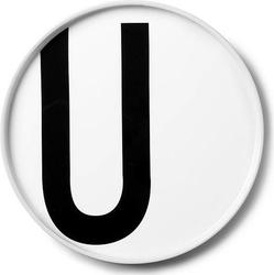 Talerz porcelanowy AJ litera U