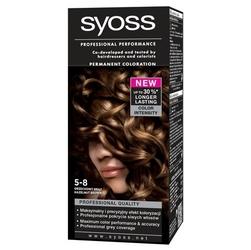 Syoss color, farba do włosów, 5-8 orzechowy brąz