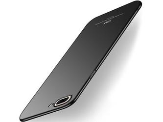 Etui msvii thin case do apple iphone 8 plus czarne + szkło - czarny