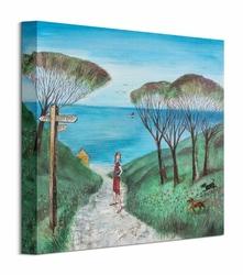 Ścieżka na plażę - obraz na płótnie