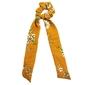 Gumka do włosów kokarda scrunchie żółta kwiaty