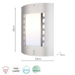 Lampa naścienna detroit 2 stalowa