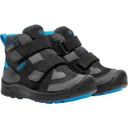 Buty trekkingowe dziecięce keen hikeport mid strap wp - czarny