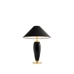 Kaspa - lampa stojąca rea - czarna - abażur czarny - czarny