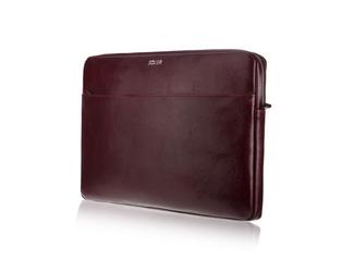 Skórzany pokrowiec na laptopa 13 cali solier sa24 bordowy - burgundowy  13 cali