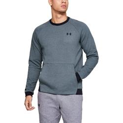 Bluza męska under armour unstoppable 2x knit crew - szary