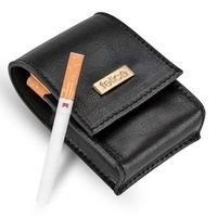 Skórzane damskie etui na papierosy felice fa14 standard czarne - czarny