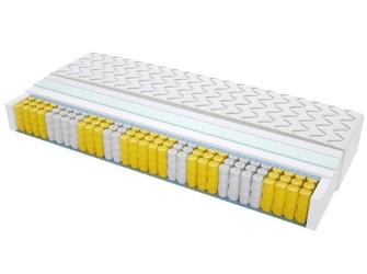 Materac kieszeniowy turyn max plus100x205 cm średnio twardy lateksowy jednostronny