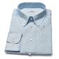 Błękitna lniana koszula van thorn z kołnierzem na guziki 49