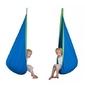 Kokon ogrodowy mocny dla dzieci huśtawka hamak niebieski