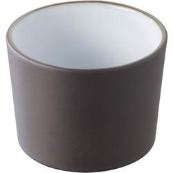 Miseczka porcelanowa 30 ml solid  likid revol, czarna, białe wnętrze rv-647322-6