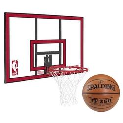 Zestaw tablica do koszykówki spalding nba polycarbonat backboard + piłka spalding tf-250 indooroutdoor