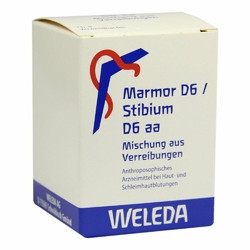 Marmor D 6  Stibium D 6 aa Trit.
