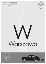 Warszawa - plakat premium Wymiar do wyboru: 40x50 cm