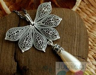 Rubens 2 - srebrny wisior z perłą