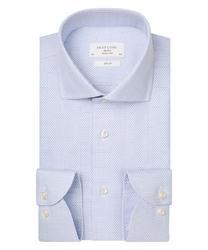 Biała koszula podróżna profuomo w mikro wzór slim fit 44