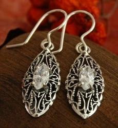 Avila - srebrne kolczyki z kryształem swarovskiego