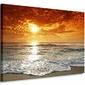 Wybrzeże, zachód słońca - Obraz na płótnie