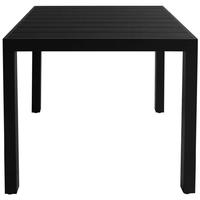 Stół ogrodowy gabriella 80 cm czarny aluminium