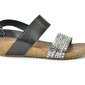 Sandały lemar 40146 bf.czarny+pasek srebro