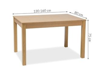 Stół do jadalni 120-160x80 lidia dąb
