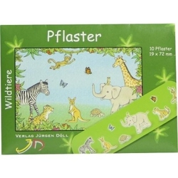 Kinderpflaster wildtiere briefchen