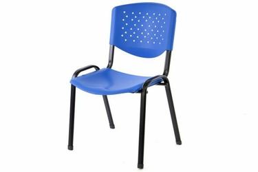 krzesło konferencyjne krzesło niebieskie plastikowe krzesło biurowe visitor