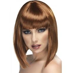 Brązowa peruka glam