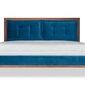 Łóżko klematisar bergen tkanina łatwoczyszcząca  deluxe  180x200 deluxe - welur łatwozmywalny petrol