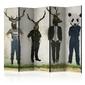 Parawan 5-częściowy - man or animal ii room dividers