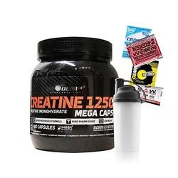 Olimp creatine mc 400 caps + shaker + próbki - 5szt