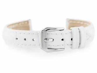 Pasek skórzany do zegarka w64 - biały - 12mm