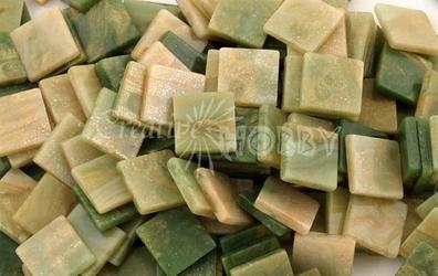 Mozaika marmur zielona 10x10 mm - 190 sztuk - ZIELMAR