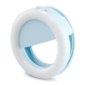 Lampa pierścieniowa LED klips do zdjęć selfie niebieska - Niebieski