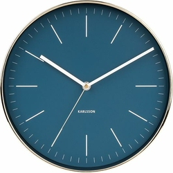 Zegar ścienny Minimal złoty granatowy