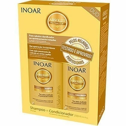 Inoar Absolut CRL Duo Pack do włosów ekstremalnie zniszczonych 2x250ml