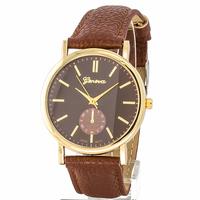 Zegarek zwyczajny brązowy - brązowy