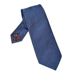 Elegancki niebieski krawat jedwabny Van Thorn o prostym splocie