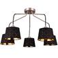Stylowy żyrandol Lazio MW-Light Megapolis czarno-złoty 103012105
