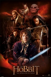 Hobbit: Pustkowie Smauga Fire Montage - plakat
