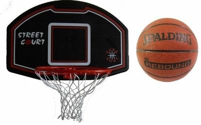 Zestaw do kosza 506 Bronx Sure Shot + Piłka Spalding NBA Rebound indooroutdoor