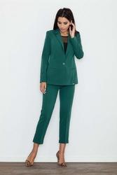 Zielone Spodnie 78 w Kant z Mankietem