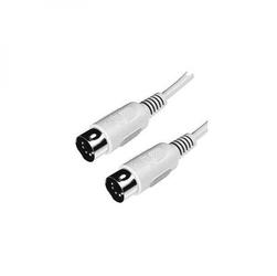 Kabel do klawiatury 5 pinový, 5 pin M- 5 pin M, 2m, szary, Logo