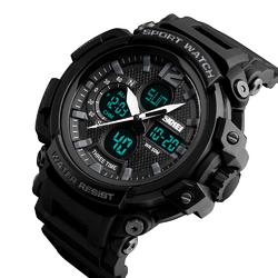 Zegarek MĘSKI SPORTOWY LED SKMEI 1343 black - BLACK