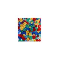 Kolorowe guziki 3 wielkości200szt. - mix I - MIXI