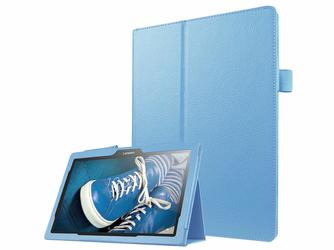 Etui Stand Cover Lenovo Tab2 A10-30 10 TB-X103 Niebieskie + Szkło - Niebieski