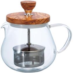 Dzbanek do herbaty z zaparzaczem Hario Teaor Wood 450 ml TEO-45-OV