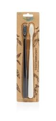 The Natural Family Co, Biodegradowalne szczoteczki do zębów, 2szt., soft, Pirate Black i Ivory Desert