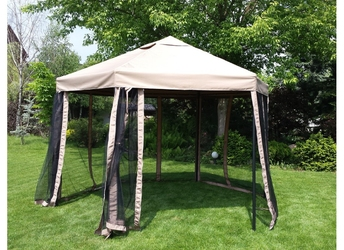 Namiot ogrodowy z moskitierą Tanatos beżowy