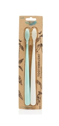 The Natural Family Co, Biodegradowalne szczoteczki do zębów, 2szt., soft, Rivermint i Ivory Desert